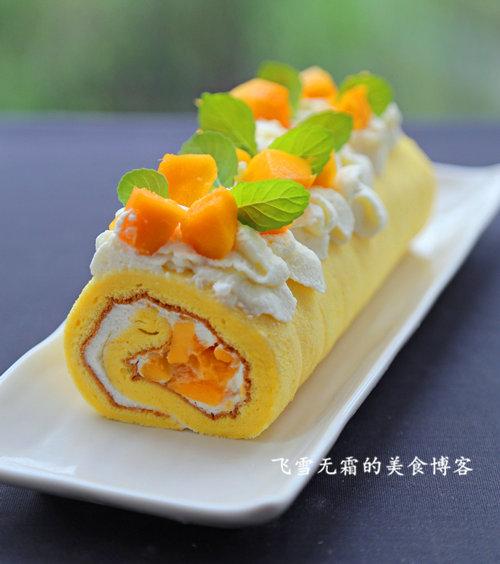 杭州蛋糕培训班:芒果蛋糕卷的做法