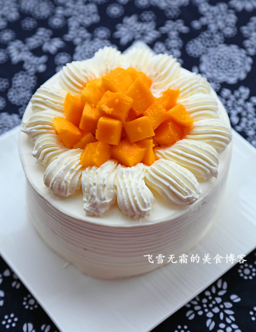 杭州蛋糕培训:芒果奶油夹心蛋糕