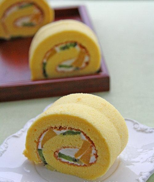 杭州蛋糕培训班:水果蛋糕卷