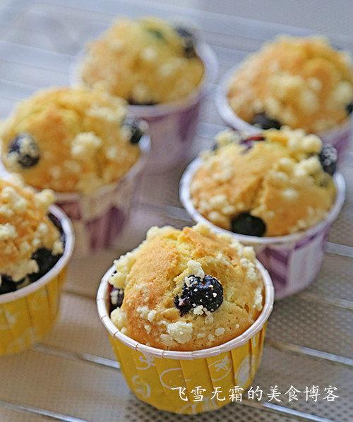 杭州蛋糕培训班:香酥粒蓝莓马芬的做法