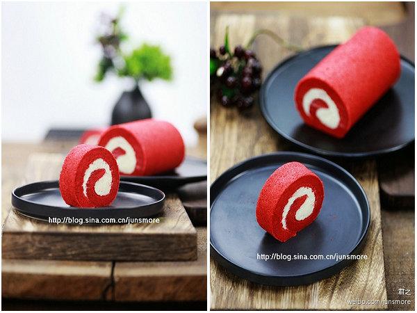 红丝绒蛋糕卷的做法_红丝绒蛋糕卷怎么做【君之】