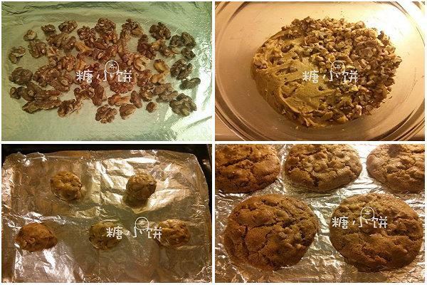 核桃巧克力大曲奇的做法_核桃巧克力大曲奇怎么做【糖小饼Halloween】