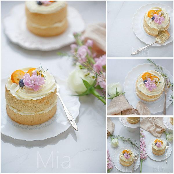 香蕉戚风奶油小蛋糕的做法[米娅_食味]