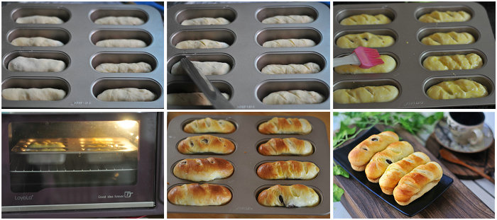 栗子红豆小面包卷的做法
