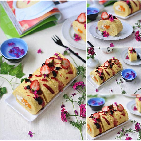 春意盎然的蛋糕卷的做法[美美家的厨房]