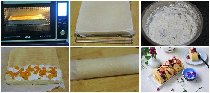 春意盎然的蛋糕卷的做法