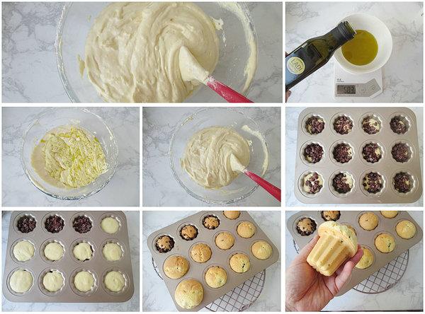 蜜豆夹心海绵蛋糕的做法