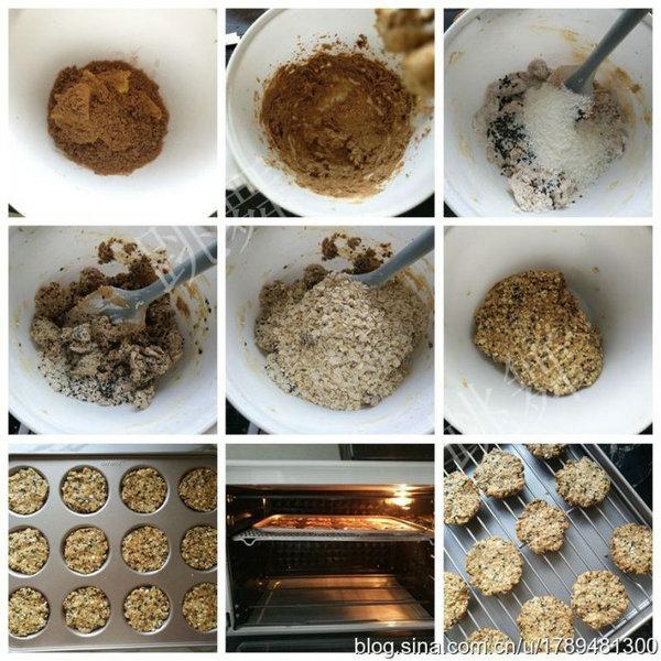 燕麦黑芝麻饼干的做法