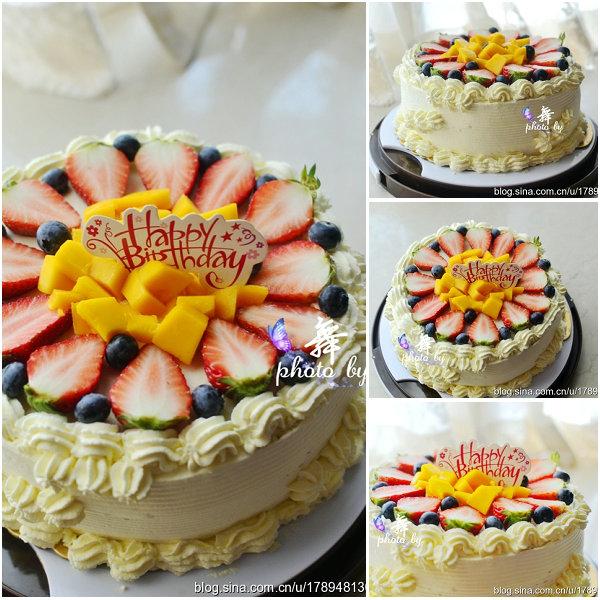 水果奶油蛋糕的做法[舞之灵1027]