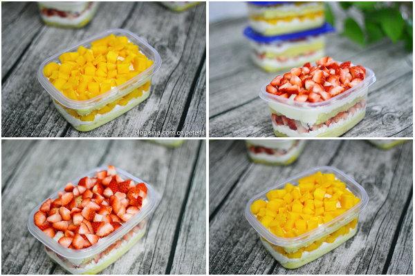 水果盒子蛋糕的做法[黄豆豆的一家]