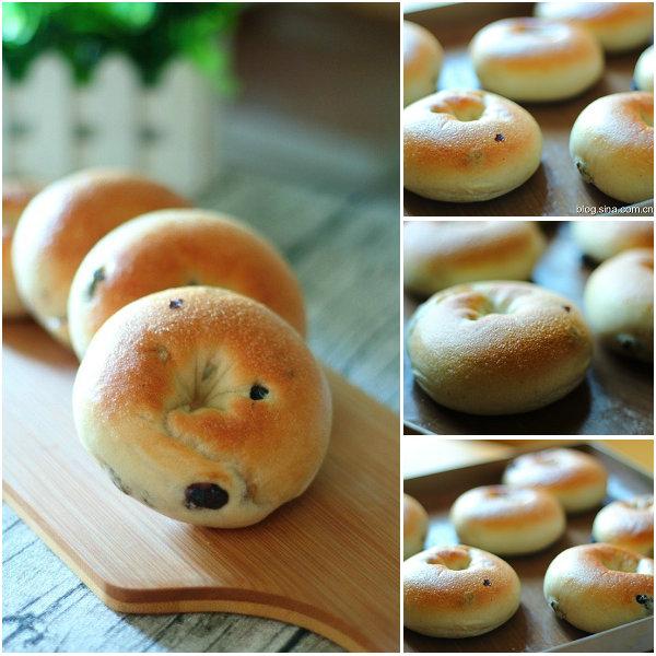 贝果面包的做法[黄豆豆的一家]