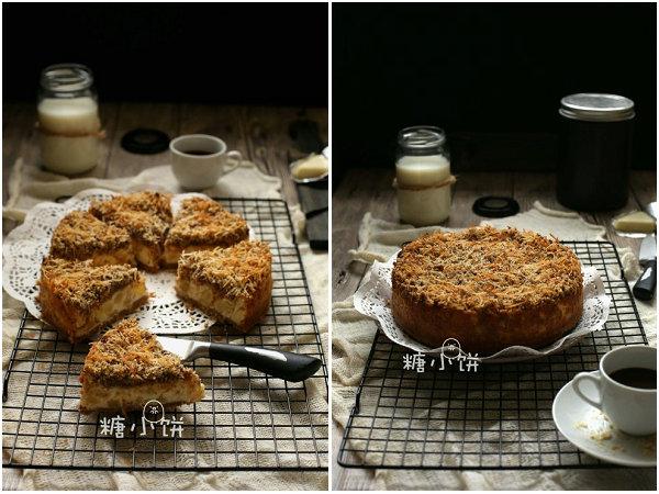凤梨椰子脆片乳酪蛋糕的做法[糖小饼Halloween]