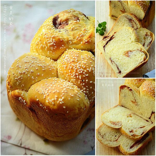 豆沙面包的做法[爱美的家]
