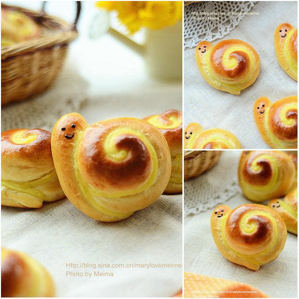 小蜗牛面包的做法[爱美的家]