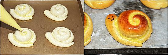 小蜗牛面包的做法