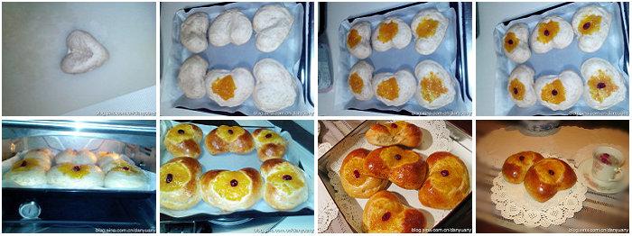 心形果酱面包的做法