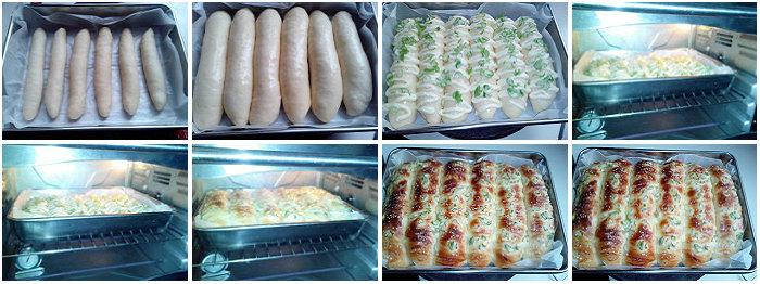 香葱沙拉面包的做法