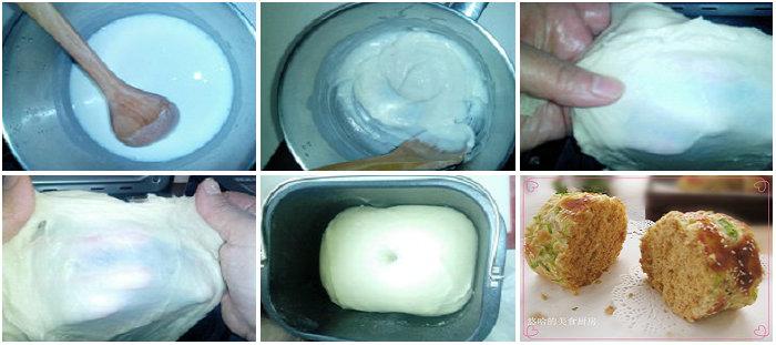 肉松香葱面包卷的做法