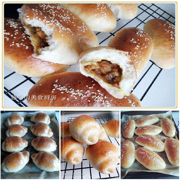 咖喱土豆泥餐包、小黄油卷的做法[youhaha0的厨房]