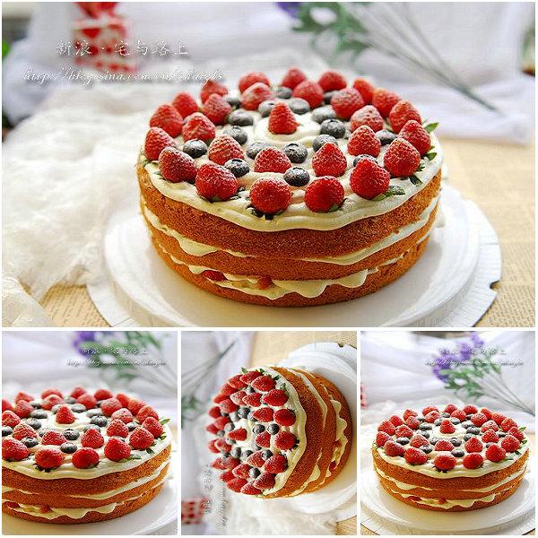 鲜果裸蛋糕的做法[宅与路上]