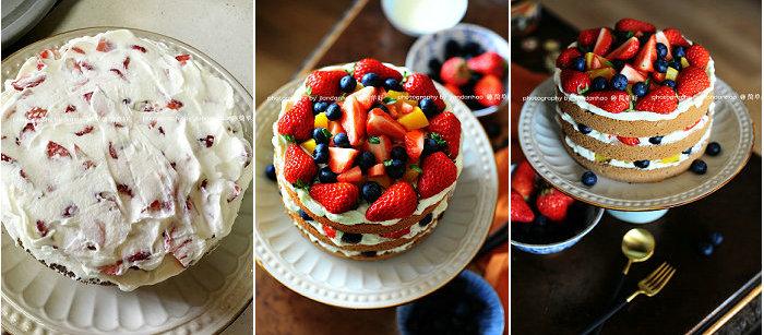 水果奶油裸蛋糕的做法