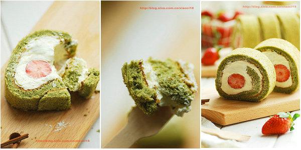 抹茶草莓蛋糕卷的做法